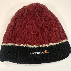 Carhartt Red & Black Small Beanie